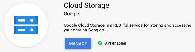 Storage API enabled