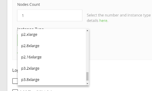 Select instance type